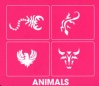 HAIR TATTOO ANIMALS